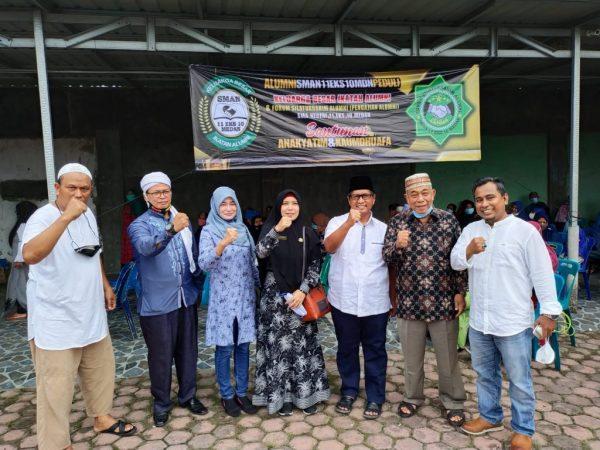 Acara Santunan Anak Yatim & Kaum Dhuafa Ikatan Alumni SMAN 11 Medan Eks 10