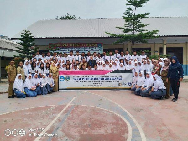 Kegiatan Satuan Pendidikan Kerjasama dan SMA ( SPK Chandra Kumala dengan SMA Negeri 11 Medan )